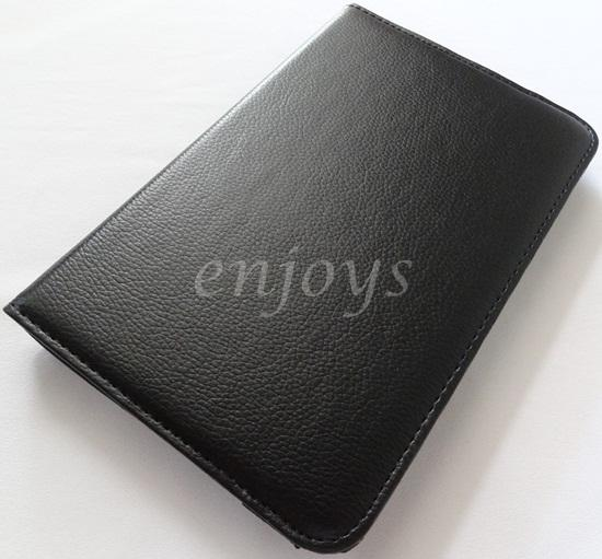 Enjoys: Genuine Rotate Leather Pouch Cover Asus Google Nexus 7 ~BLACK