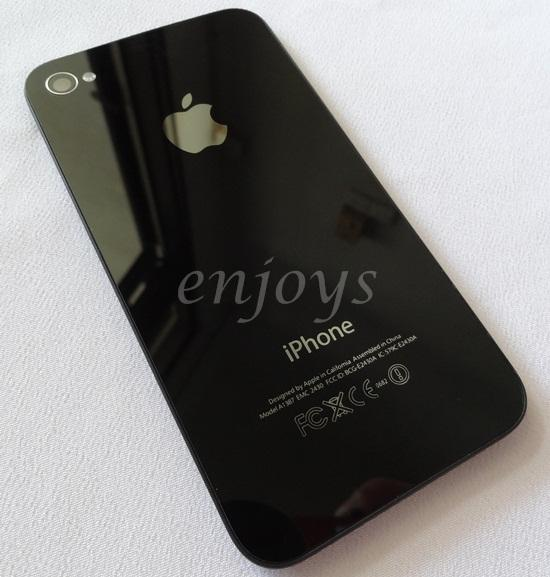 Enjoys: NEW HOUSING Battery Cover Apple iPhone 4S ~Mirror BLACK