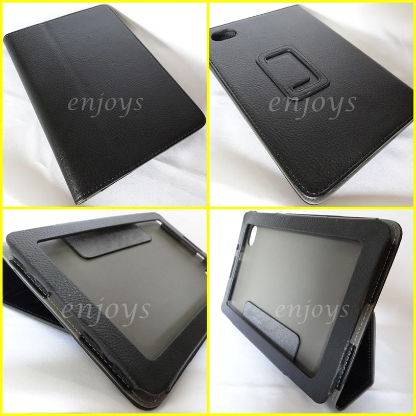 Enjoys: Leather Case Book Flip Pouch Bag Samsung P6800 Galaxy Tab 7.7