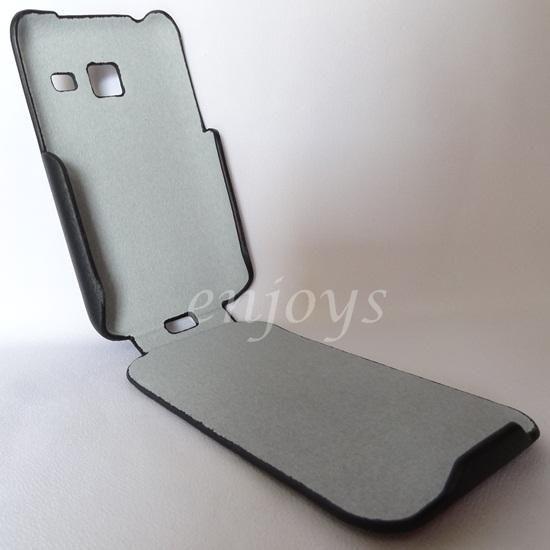 Enjoys: Leather Protective Case Pouch Samsung Galaxy Y Duos S6102 ~BLK