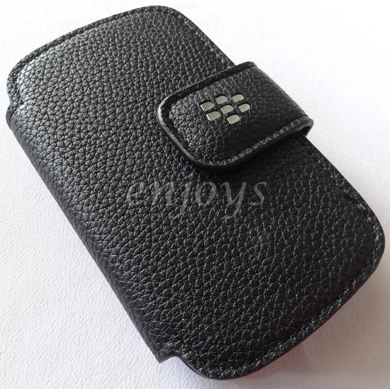 Enjoys: Lock Sensor Leather Pouch Cover BlackBerry Curve 8520 3G 9300