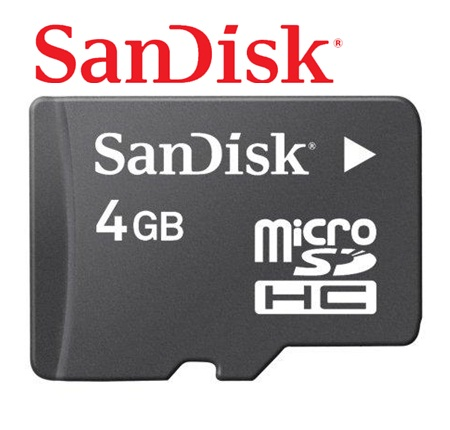 Enjoys: Real Sandisk 4GB Micro SD SDHC Memory Card ~Class 4 6