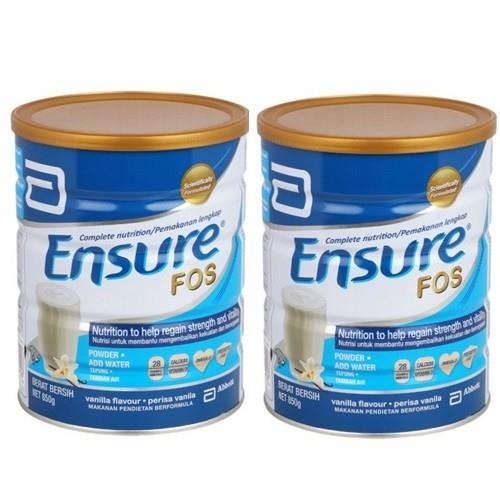 Ensure with FOS Formula Dietary Food Vanilla 850g X 2 TINS