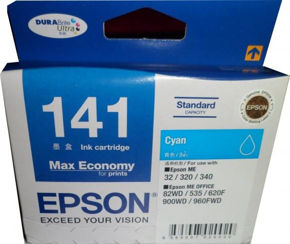 Epson 141 Cyan Ink Cartridge (Genuine) ME320, 900WD, 960FWD