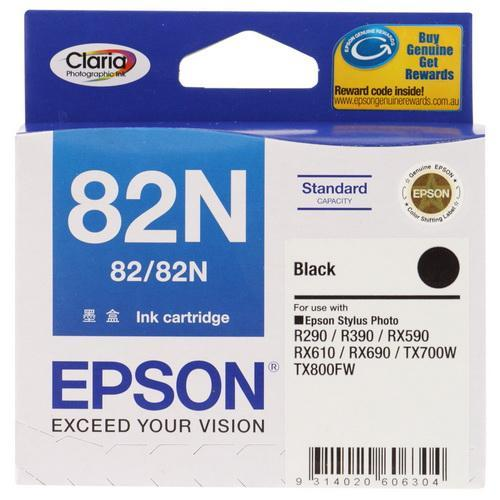 EPSON BLACK INK CARTRIDGE, 82N