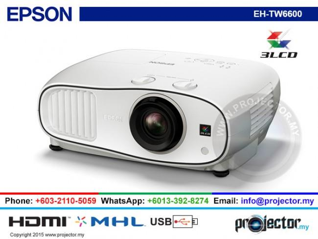 EPSON EH-TW6600 FULL HD 3D HOME THEATER PROJECTOR