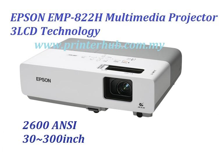 EPSON EMP-822H LCD Multimedia Projector