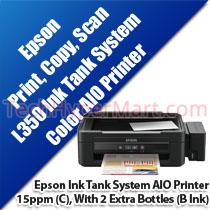 EPSON L350 INK TANK SYSTEM COLOR 3 IN 1 PRINTER
