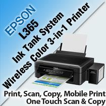 EPSON L365 INK TANK SYSTEM COLOR 3-IN-1 PRINTER