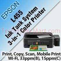 EPSON L455 INK TANK SYSTEM 3-IN-1 COLOR PRINTER