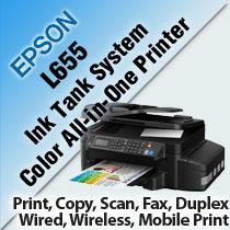 EPSON L655 INK TANK SYSTEM COLOR ALL-IN-ONE PRINTER