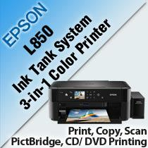 EPSON L850 INK TANK SYSTEM 3-IN-1 COLOR PRINTER
