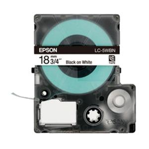Epson LK-5WBN LabelWorks Tape 9M 18mm Black on White Tape