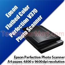EPSON PERFECTION V370 PHOTO FLATBED COLOR SCANNER