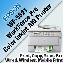 EPSON WORKFORCE PRO WF-5621 COLOR INKJET ALL-IN-ONE PRINTER