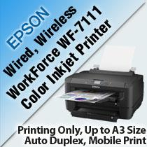 EPSON WORKFORCE WF-7111 COLOR INKJET PRINTER