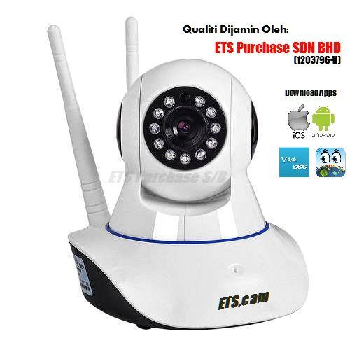 ETS.cam HD960p Double Antenna Wireless CCTV IP Camera With Alarm Siren