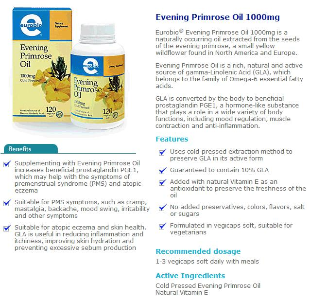 Euro Bio EPO Evening Primrose Oil 240Caps RM140