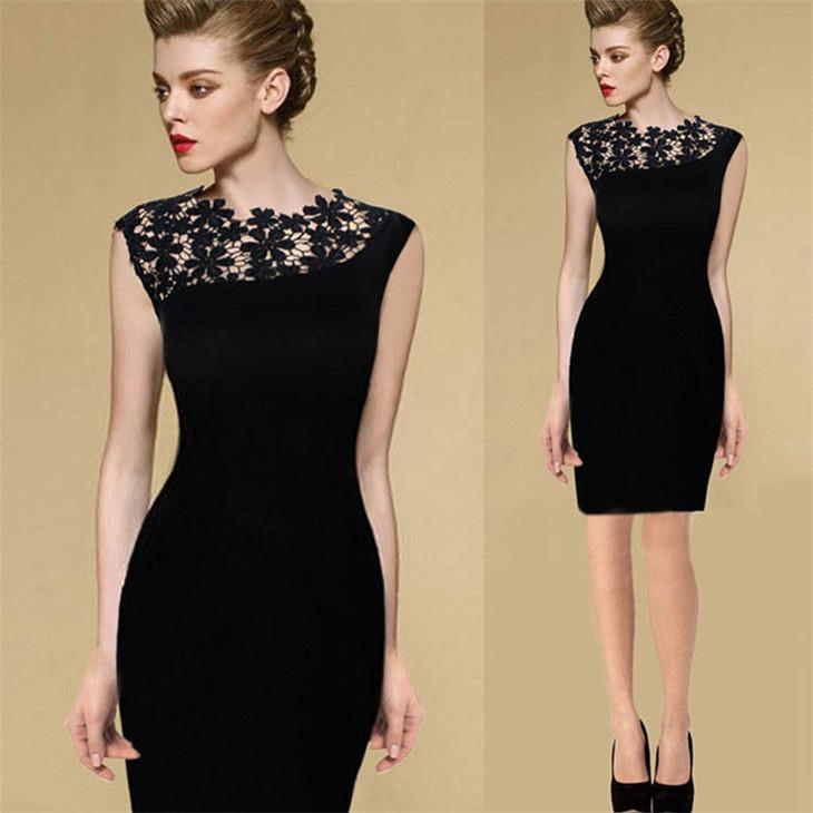 Europe Style Embroid Dress (Black)