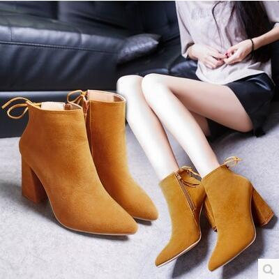 European star version pointed high heel side zip leather boot