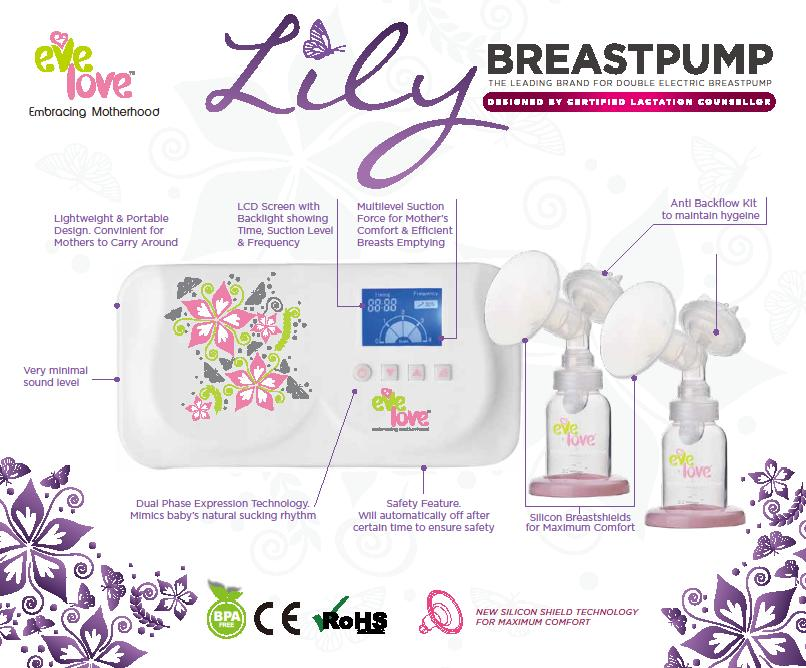 EVE LOVE Lily Electric Double Breastpump