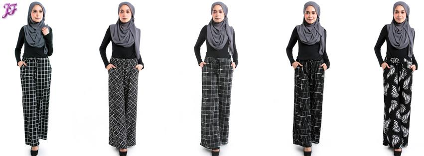 Evelyn Printed Palazzo with pocket M374B-A