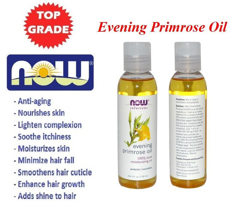 Evening Primrose Oil, 100% Pure Moisturizing Oil, Made in USA (118ml)