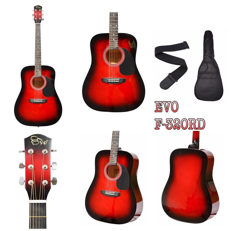 EVO F320 RED - ACOUSTIC GUITAR FREE BAG