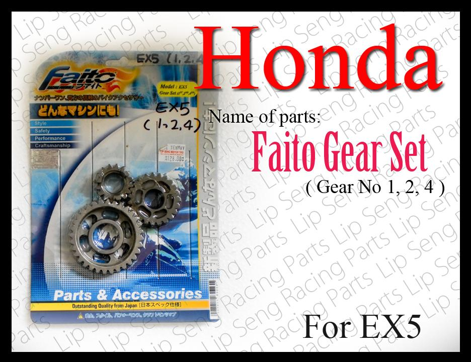 EX5 Faito Racing Gear No 1/ 2/ 3 /