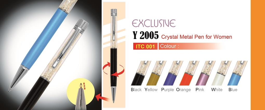 EXCLUSIVE CRYSTAL METAL  PEN Y2005
