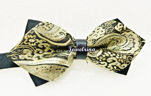 Exclusive Gold Diamond Bow Tie  (Free Shipping)