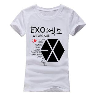 EXO Cartoon Design T Shirt Slim Cut (Female)