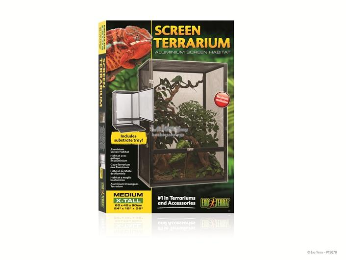 Exo Terra Screen Terrarium – Medium/X-Tall