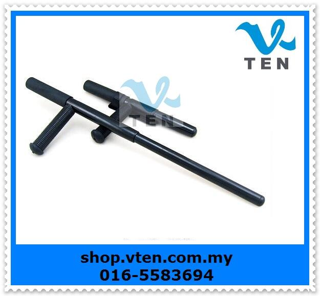 Expandable T Baton Steel  Extend Stuff Stick Retractable Espantoon