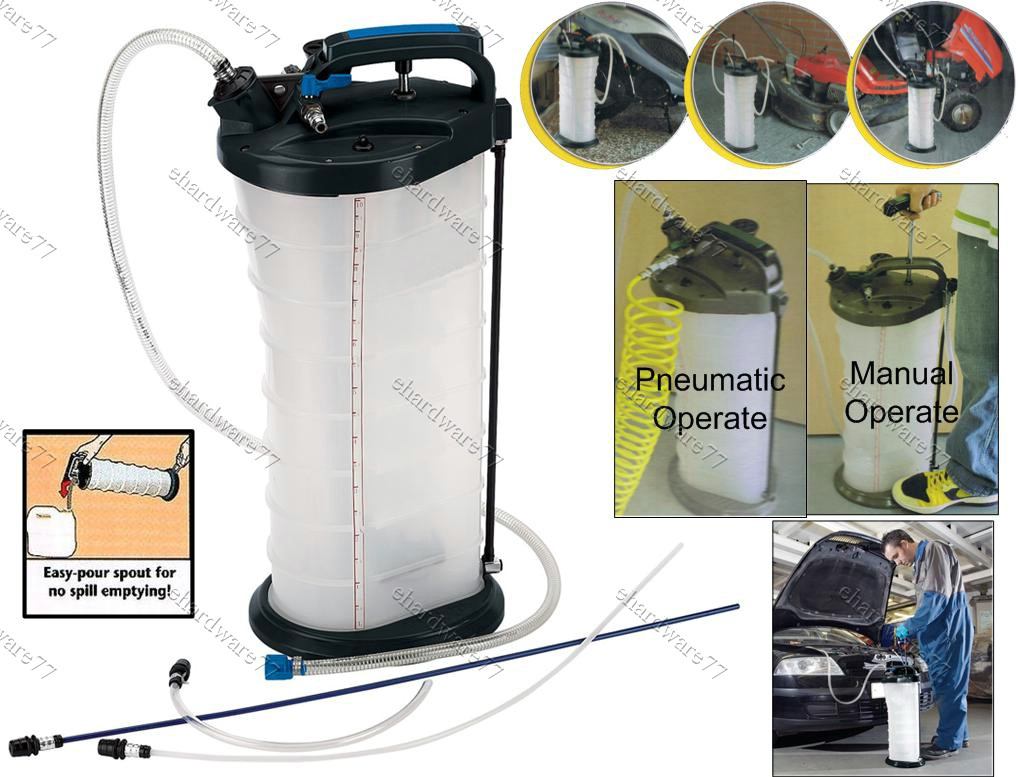 Expert manual or pneumatic oil fluid extractor 9l end 9 for Gardening tools kuala lumpur