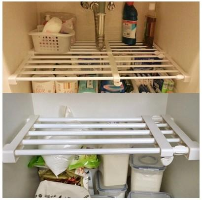 Extendable Rack Adjustable for Cabinet Waredrobe Kitchen