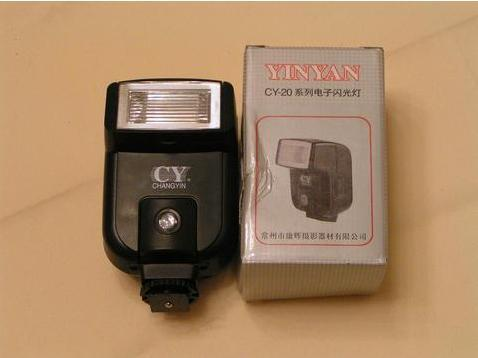 External Flash Light CY-20 for Canon Nikon Panasonic Samsung Pentax