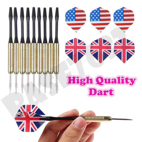 Extra Steel Needle Tip Dart Darts With National Flag Flights 16g -18g