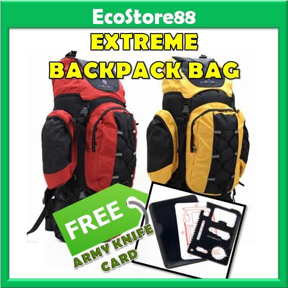 Extreme Backpack Bag Professional 80L + Free Gift Army Knife Card
