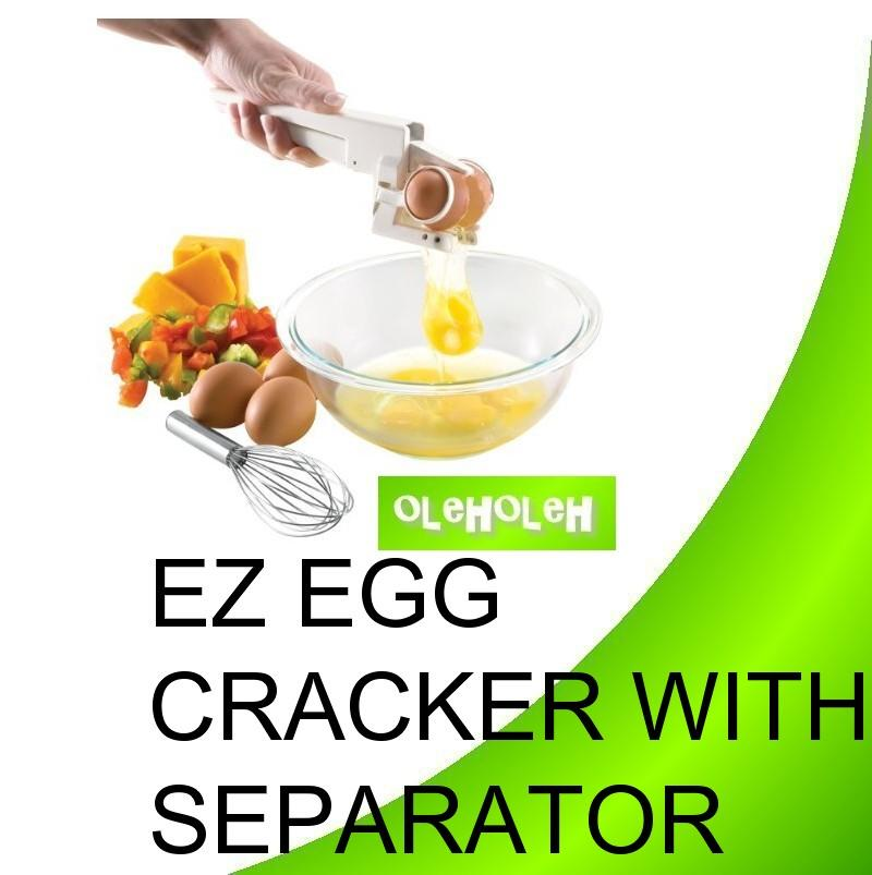 EZ Egg Cracker with Egg Separator As Seen On TV