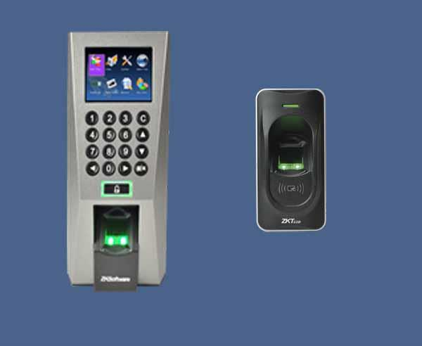 F18 + FR1200 Fingerprint Time Attendance and door access S