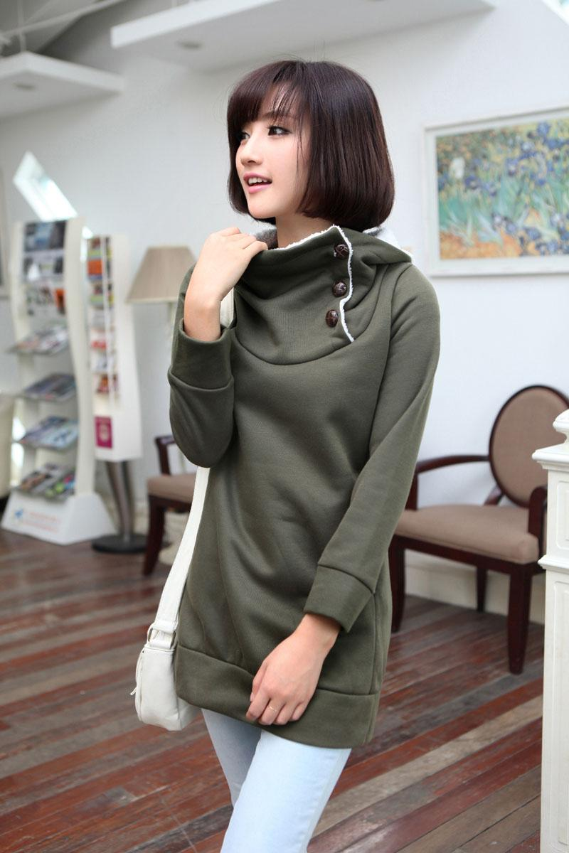 F8 110110 Korean Style Sweater Color Green