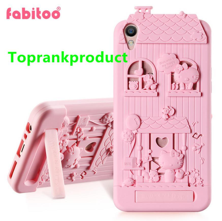 Fabitoo OPPO R9 F1 Plus Silicone Armor Stand Case Cover Casing + Gift