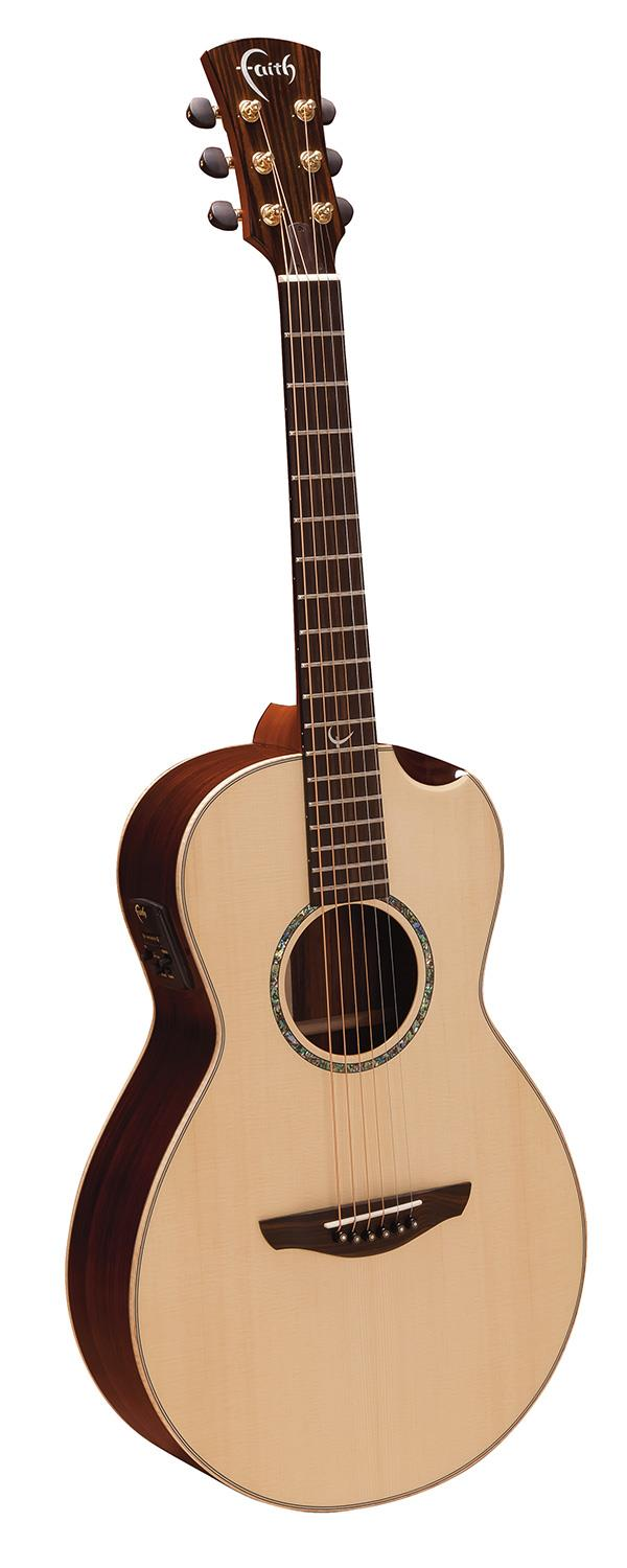 FAITH FMEHG-BNC MERCURY HI-GLOSS ELECTRO ACOUSTIC GUITAR WITH HARDCASE