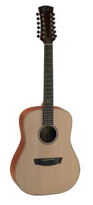 FAITH FS12 NATURAL SATURN 12 STRING ACOUSTIC GUITAR WITH HARDCASE