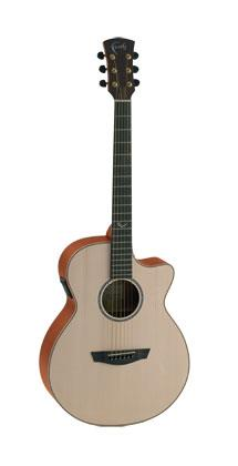 FAITH FV NATURAL VENUS ACOUSTIC GUITAR WITH HARDCASE