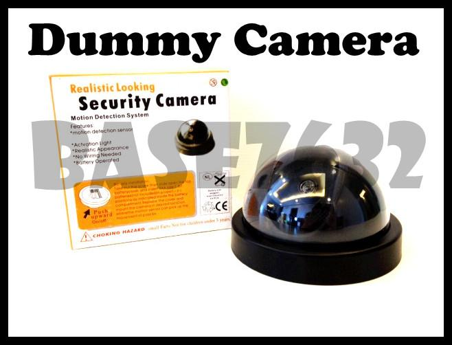 Fake  Dummy Security Surveillance Dome CCTV Camera Led Light