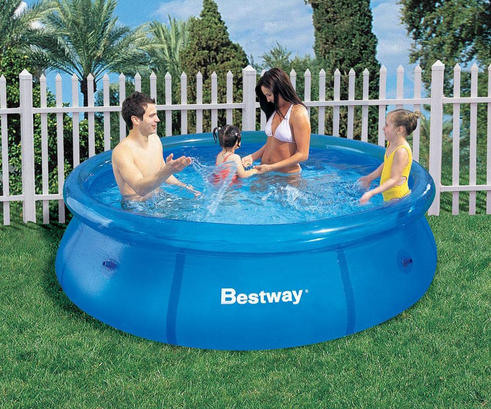 Family bestway inflatable pool swim end 10 29 2017 4 15 pm for Bestway piscine service com