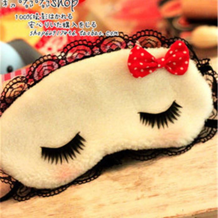 Fancy Long Lashes Lace Plush Sleeping Eye Shade