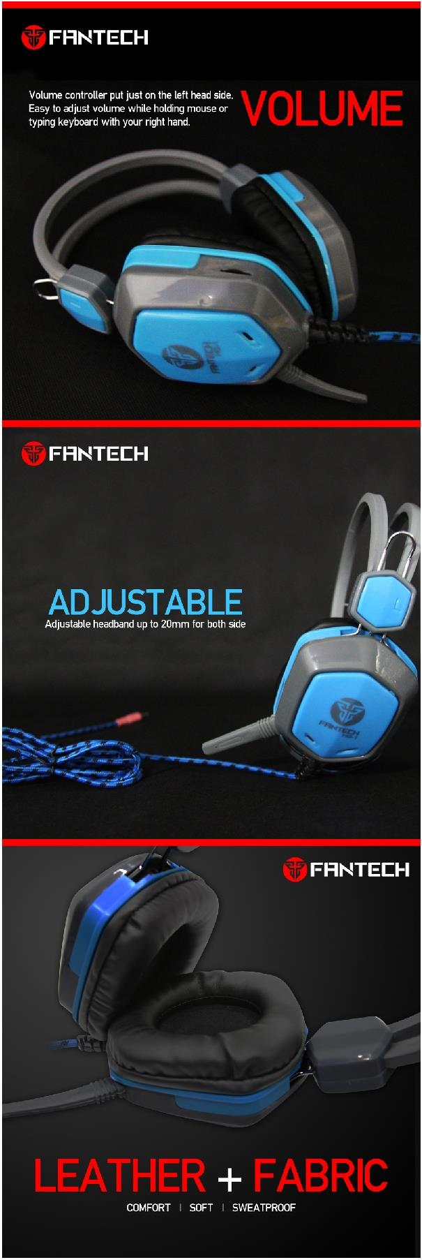 Fantech Kraken HG1 40mm Driver Wired Gaming Headset